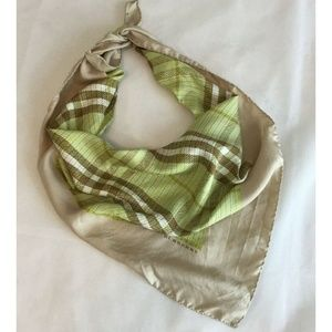 Burberry Nova Check Silk Bandana Scarf Triangle